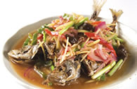 Fried Fish with Ginger Sauce