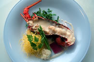 Roasted Spiny Lobster - served with a Thai curry sauce