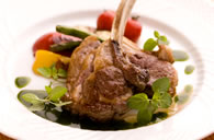 Grilled Lamb Chop Fresh Mint Sauce