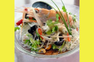 Yam Un Sen, fresh seafood and starch noodle salad