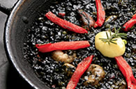 Paella with squid